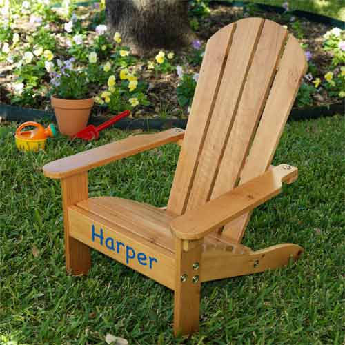 Superb Personalized Kids Adirondack Chair