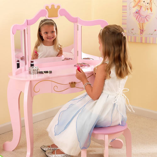 Princess Vanity Set Pink Vanity Table With Mirror