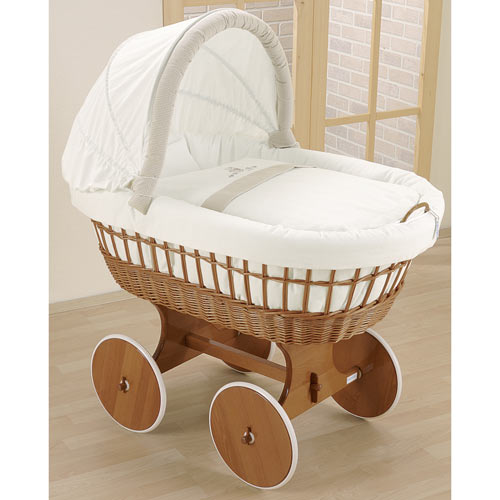 Baby S Breath Bassinet White Wicker Bassinets At Ababy Com