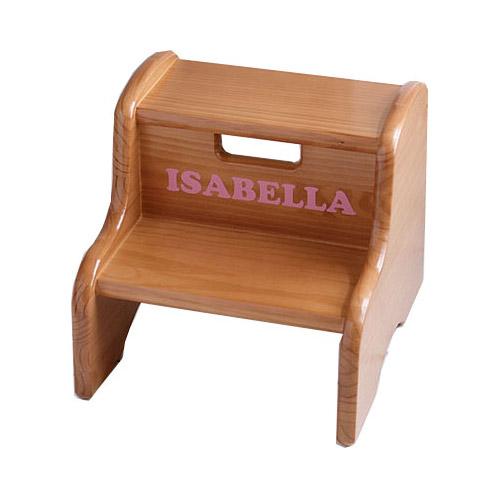Kids Wooden Step Stool Personalized