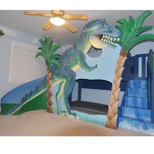 T Rex Dinosaur Bunk Bed Dinosaur Cribs Amp Beds Ababy Com