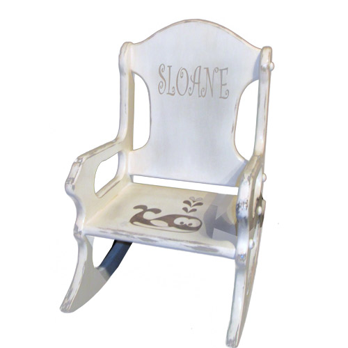 Enjoyable Personalized Shabby Chic Kids Rocking Chair Dailytribune Chair Design For Home Dailytribuneorg