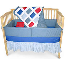 Primary Colored Five Piece Crib Set