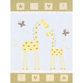 Giraffe Mother and Baby Print