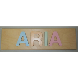 Aria Personalized Pastel Name Puzzle