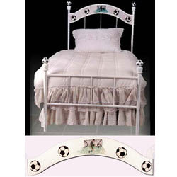 Soccer Iron Twin Bed