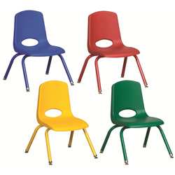 6 Pack School Stack Chairs with Matching Legs