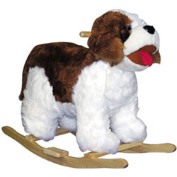 Rocking Plush St. Bernard