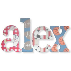 Alex's Sports Wall Letters