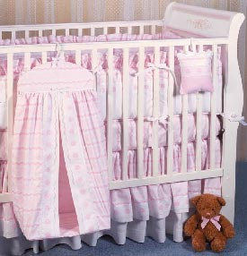Pink Anastasia Crib Bedding