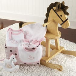 Rocking Horse with Layette