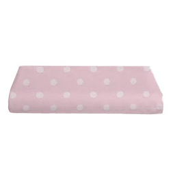Pink Polka Dot Fitted Crib Sheet