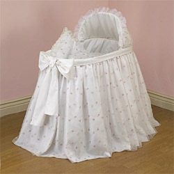 Budding Organza Blossoms Bassinet
