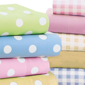 Polka Dotted Moses Basket Sheets