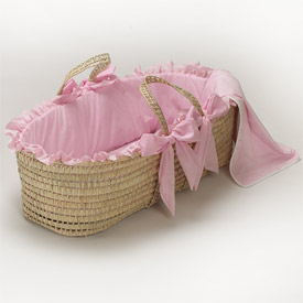 Gingham Moses Basket