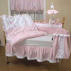 Pretty Pique Crib Bedding