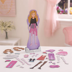 Ballet Dancer Magnetic Dress Up Doll