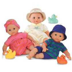 Bath and Water Play Triplet Dolls