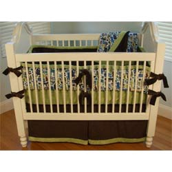Modern Zoo Crib Bedding Set