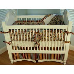 Retro Dot Crib Bedding Set