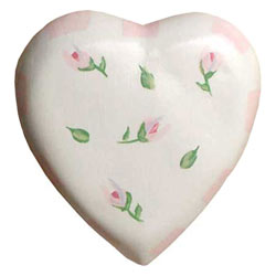 Rosebud Heart Shaped Knob