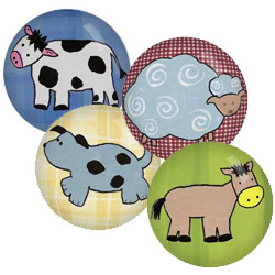 Barnyard Animal Knobs