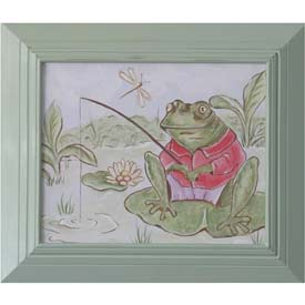 Frog Gone Fishing Artwork