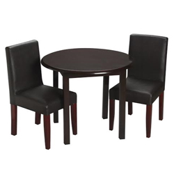Childrens Round Table and Upholstered Chair Set