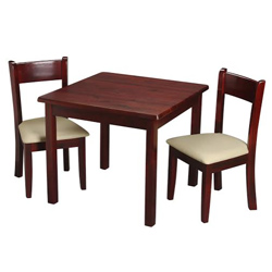 Childrens Square Table and Upholstered Seat Chair Set