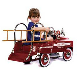 Deluxe Kids Pedal Fire Truck