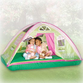 Twin  Tents on Cottage Bed Tent Playhouses   Ababy Com