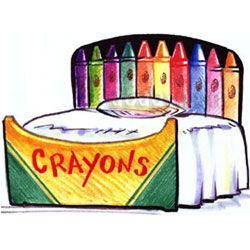Crayons Twin Bed