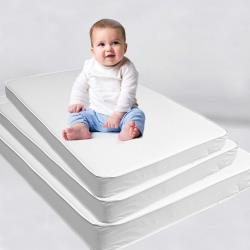 Baby Custom Crib Mattress Bed Pad: Firm Foam Bedding With Waterproof Vinyl Top