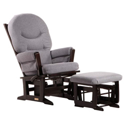 Modern Multi-Position Recliner Glider and Nursing Ottoman