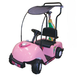 Pink Lil Driver One Seat Golf Cart