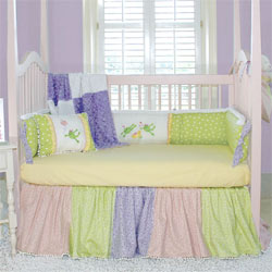 Embroidered Paddy Frog Crib Bedding