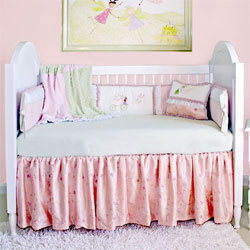Embroidered Princess Crib Bedding
