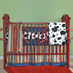 Embroidered Western Crib Bedding