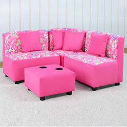 Daisy Doodle Sectional Seating Set