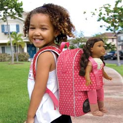 Doll Travel Backpack with Front Compartment