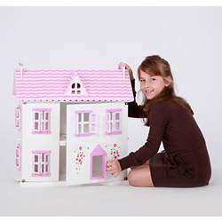 Pink Rose Cottage Dollhouse