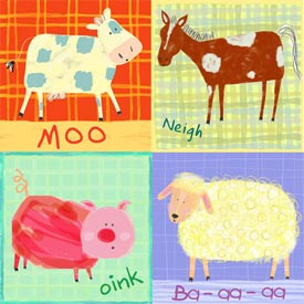 Oopsy Daisy/No Boundaries Sheep Says Baa Stretched Art
