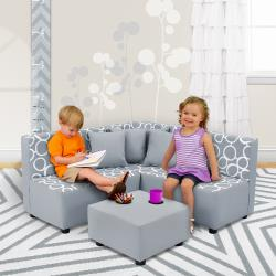 Freehand Storm Twill Sectional Seating Set