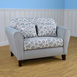 Freehand Storm Twill Tween Loveseat