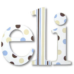 French Vanilla And Chocolate Wall Letters