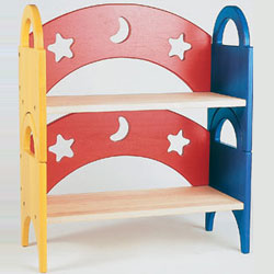 Moon and Stars Stacking Book Shelf