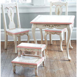 Princess Anne Table and Chairs & Princess Anne Table and Chairs by Green Frog Art