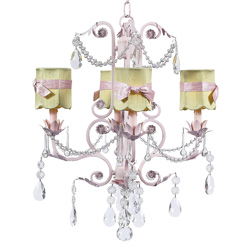 Green Scallop 4 Arm Valentino Chandelier
