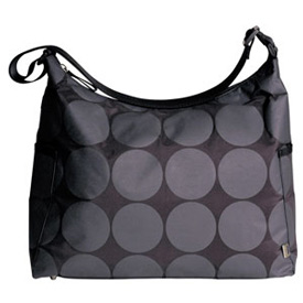 Grey Dot Hobo Diaper Bag