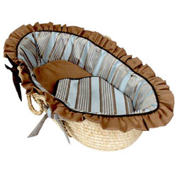 Bella Blue Moses Basket